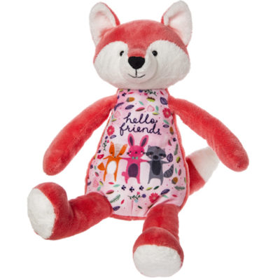 """Hello Friends"" Whimsy Doodles Fox – 14″"