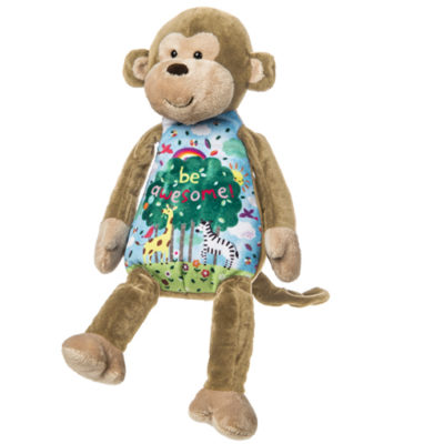 """Be Awesome"" Whimsy Doodles Monkey – 14″"