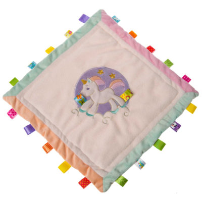 Taggies Dreamsicle Unicorn Cozy Security Blanket - 16x16""