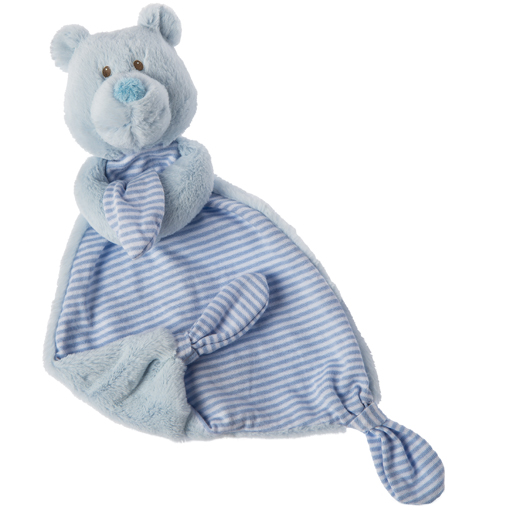 Marshmallow Blue Teddy Lovey - 13""