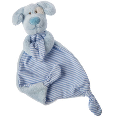 Marshmallow Blue Pup Lovey - 13""