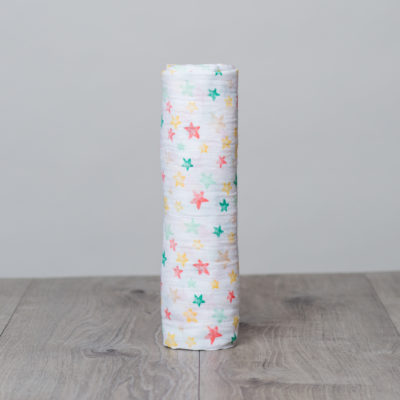 LJ431 Lulujo Star Bright Cotton Swaddle – 47×47″